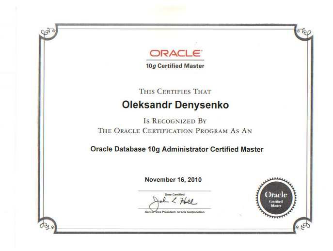 I Have Passed Ocm 10g Exam How To Prepare Oleksandr