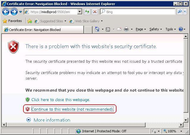Fixing OEM security certificate issues in local Browser(IE ...